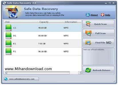 000bb8d9 ریکاوری اطلاعات با نرم افزار Safe Data Recovery v2.4
