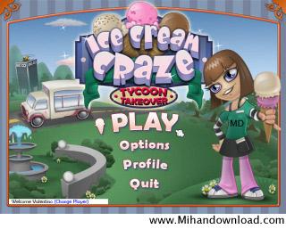 بازی بسیار زیبا کامپیوتر با نام Ice Cream Craze