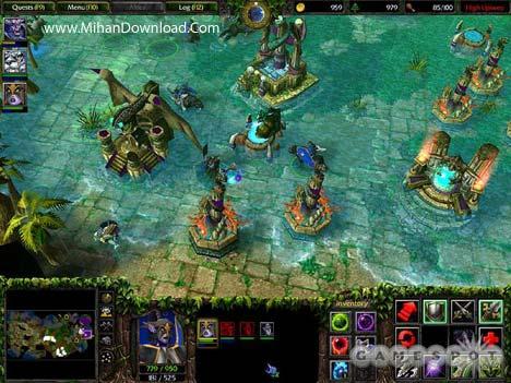 wiii1 دانلود بازي كامپيوتر استراتژيك واركرافت Warcraft III Reign of Chaos + The Frozen Throne