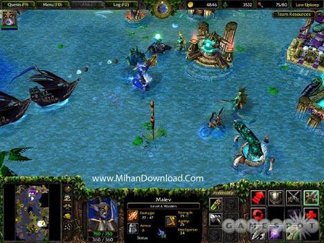 wiii3 دانلود بازي كامپيوتر استراتژيك واركرافت Warcraft III Reign of Chaos + The Frozen Throne