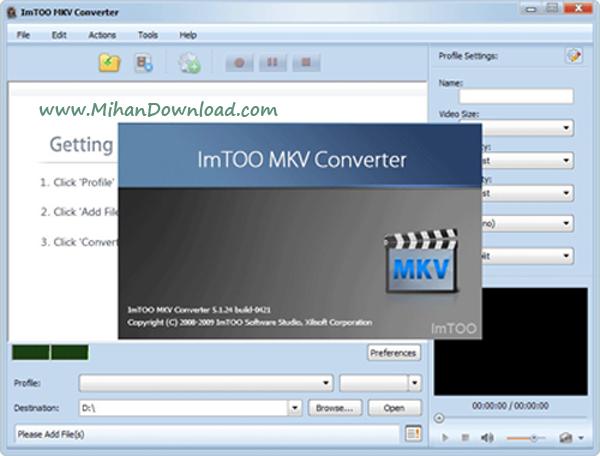 1 mkv converter مبدل فرمت MKV با نرم افزار  ImTOO MKV Converter v5.1.26.0710