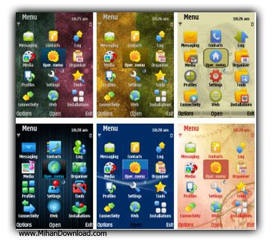 Nokia%20S60%20Symbian%209Themes%20Pack 1%5Bwww.MihanDownload.com%5D مجموعه ای فوق العاده از تم برای موبایل Nokia S60 Symbian 9.х