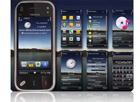 Nokia.S60v5.Theme2.www.MihanDownload.com یک تم جدید و فوق العاده شیک برای S60V5