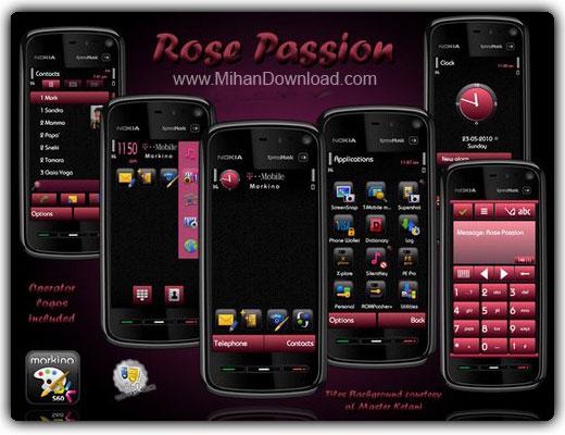 Rose passion%5Bwww.MihanDownload.com%5D یک تم جدید و فوق العاده شیک برای S60V5
